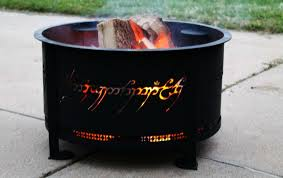 rings with fire images This fire pit is reminiscent to 39 one ring 39 from lord of the rings jpg