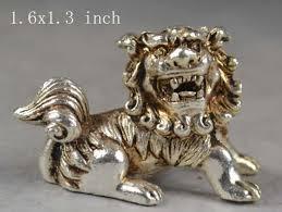 silver lion statue tnukk elaborate collection handmade decoration miao