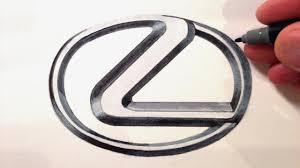 lexus logo images how to draw the lexus logo youtube