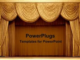 Gold Curtain Curtain Powerpoint Templates Crystalgraphics