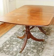 henredon duncan phyfe style dining table ebth