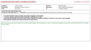 Interpreter Resume Samples by Somali Interpreter Cv Work Experience Samples