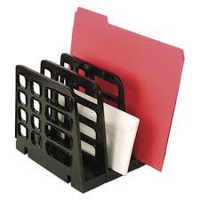 Plastic Desk Organizer Universal Unv08113 8 X 8 X 7 1 4 Black 3 Section Plastic
