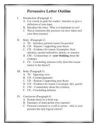 restate thesis persuasive letter outline in word and pdf formats