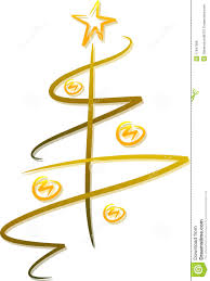 abstract golden christmas tree royalty free stock image image