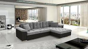 Sofa With Bed New Diana Leather U0026 Fabric Corner Sofa With Bed Storage In Black