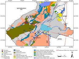 Dead Sea Map Amik Basin Flows
