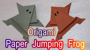 how to make origami jumping frog in paper paper frog easy