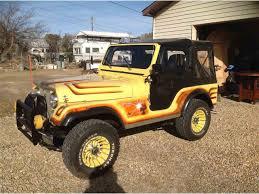 cj jeep yellow 1977 jeep cj5 for sale classiccars com cc 770465