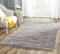 8 by 10 area rugs amazon com safavieh rag rug collection rar121e hand woven rust
