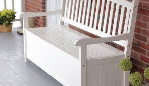 Argos Garden Bench Bench Prodigious White Storage Bench With Baskets And Cushion