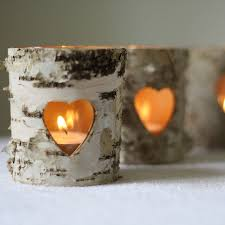 bark tea light holders see more of the bark wedding decor trend