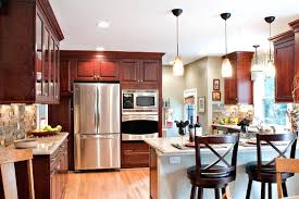 kitchen color ideas with cherry cabinets white washed cabinet kitchen with cherry cabinets black metal oven