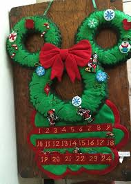 disney parks mickey mouse wreath felt advent calendar