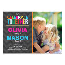 joint birthday party invitations u0026 announcements zazzle