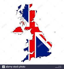 British Flag With Red Britische Flagge Karte Symbol Logo Union Jack Stockfoto Bild