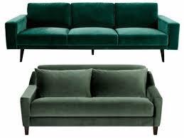 canap entr e canapé vert liée à canapé en velours entre vert et bleu notre