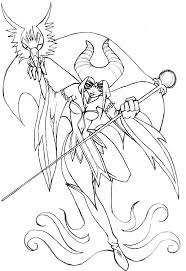 queen moors maleficent coloring pages color luna