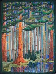 Forest Rug Big Scrap Rug By Marlene Bartlett This Will Live With Me One