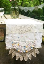pastel wedding table runner mixed vintage linens weddings tea
