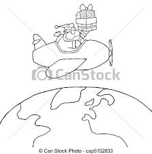 vectors outlined santa claus coloring outline santa
