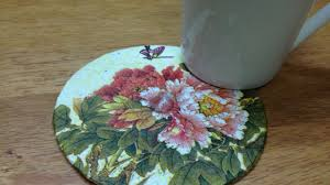how to upcycle an old cd to a colorful coaster diy home tutorial