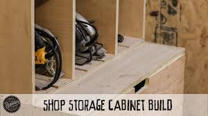 how to build a modular shop storage cabinet youtube