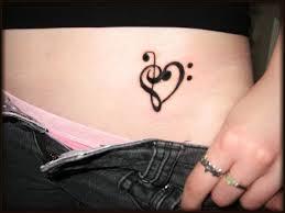 music notes shape heart tattoos design tattoomagz