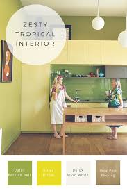 Colour Scheme Colour Scheme Of The Week Zesty Tropical Greens In Melbourne