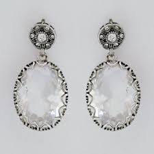 wedding earrings drop badgley mischka bridal earrings vintage drop wedding earrings