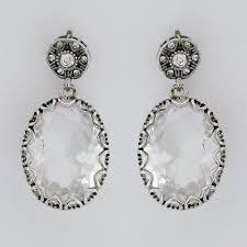 badgley mischka bridal earrings vintage drop wedding earrings