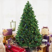 pre lit tree 7ft green pine tree metal stand easy to