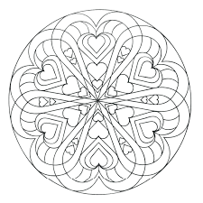love hearts coloring printable human heart pages print