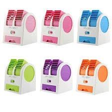 Portable Desk Air Conditioner Krevia Mini Small Fan Cooling Portable Desktop Dual Bladeless Air