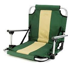 Stadium Chairs With Backs Stansport Folding Stadium Seat With Arms Green Kayak