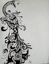 peacock drawing black and white free download clip art free