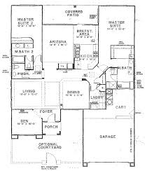 house plans 2 master suites single story floor plans with 2 masters floor plans with two master suites