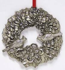 reed barton wreath ornament at replacements ltd