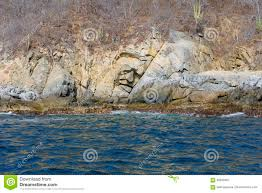 Huatulco Mexico Map by Mexico Huatulco A Rock In The Face Of An Indian Stock Photo