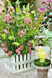 Easter Floral Table Decorations by Raz Easter Bunny Arrangement Rabbit Centerpiece Rabbit Table
