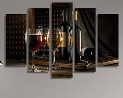 Wine Glass Wall Decor Wine Wall Art Etsy