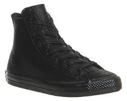Jual Converse Mono mens converse ctas gemma hi black mono stingray leather trainers