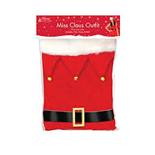 Santa Claus Christmas Decorations Uk by Mrs Claus Costume Amazon Co Uk Clothing