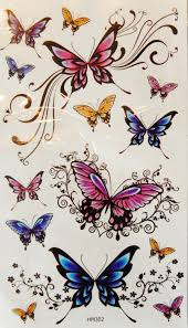colorful butterflies temporary tattoos butterfly