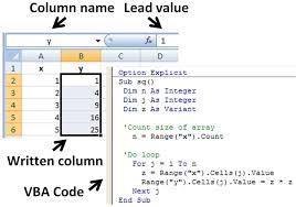vba write to a cell in microsoft excel vba examples