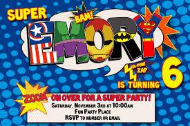 superhero birthday invitations free invitations ideas