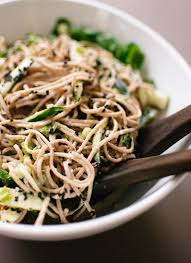 sesame ginger and cucumber soba noodles cookie and kate