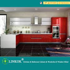 Kitchen Cabinet Supplier Linkok Furniture Factory Directly Kitchen Wall Hanging Black Uv