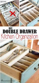 how to organize kitchen drawers diy diy layer drawer organization kitchen drawer