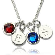 Personalized Charm Necklaces Personalized Birthstone Necklace
